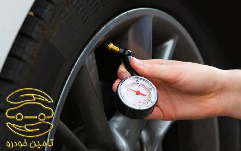 تنظیم باد چرخ های خودرو قبل از سفر